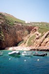 Portugal - Berlengas: the beach seen from the Atlantic - a praia vista do Atl�ntico - photo by M.Durruti