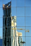 Portugal - Lisboa: torres e Centro Comercial Amoreiras / Amoreiras Shopping centre - reflection - photo by F.Rigaud