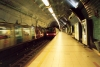 Lisbon: esta��o de metro do Parque - Metropolitano de Lisboa / trains - Parque Metro station / subway - photo by M.Durruti