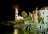 Portugal - Cascais: Cascais: Santa Marta lighthouse - nocturnal / farol de Santa Marta - foto nocturna (photo by T.Marshall )