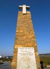 Portugal - Cape Roca / Cabo da Roca (Concelho de Sintra): obelisk marking the start of Europe - obelisco - onde a Europa começa - photo by M.Durruti