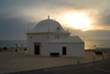 Ericeira, Mafra, Portugal: S.Sebasti�o chapel - sunset / Capela de S.Sebasti�o ao fim do dia - photo by M.Durruti