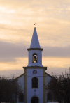 Ponte de Sor, Portugal: main church at dusk - igreja ao crepusculo - photo by M.Durruti