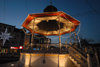 Portugal - Montijo: bandstand at night - coreto � noite - photo by M.Durruti
