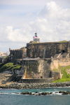 Puerto Rico - San Juan: Spanish fort of San Felipe del Morro - from the sea (photo by D.Smith)