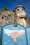 Puerto Rico - San Juan: fortification detail (photo by D.Smith)
