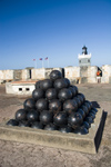 Puerto Rico - San Juan: San Felipe del Morro - cannon balls (photo by D.Smith)