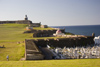 Puerto Rico - San Juan: cemetery and El Morro fort (photo by D.Smith)