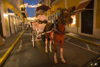Puerto Rico - San Juan: Horse and Buggy at dusk (photo by D.Smith)