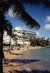 Puerto Rico - San Juan: playa cerca del Hotel Normandie (photo by M.Torres)