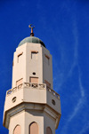 Doha, Qatar: minaret of Jassim Al Thani mosque - Al-Asmakh street, Al Koot fort round-about - photo by M.Torres