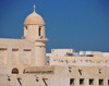 Doha, Qatar: minaret of  Souq Waqif Mosque and souq buildings - photo by M.Torres