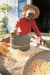 Rodrigues: woman preparing corn flour (photo by Gilbert Soobraydoo)