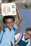 Rodrigues: happy kids (photo by Gilbert Soobraydoo)