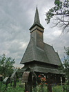 Ieud, Maramures county, Transylvania, Romania: wooden church - vernacular architecture - Biserica de lemn din Ieud Ses - photo by J.Kaman