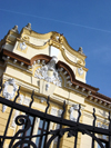 Romania - Timisoara: detail of the National Bank of Romania façade - photo by *ve
