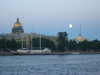 Russia - St. Petersburg: white nights - the Neva, St Isaac's cathedral and the Admiralty (photo by D.Ediev)