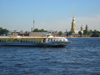 Russia - St. Petersburg: jetfoil passing by Peter and Paul fortress (photo by D.Ediev)