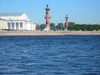 Russia - St. Petersburg: Rosstralniye columns and the Naval War museum (photo by D.Ediev)