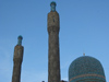 Russia - St. Petersburg: mosque - minarets (photo by D.Ediev)