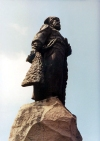 Russia - Khabarovsk (Russian Far East): statue of Khabarovsk, the person (photo by G.Frysinger)