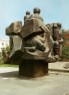 Russia - Magadan (Far East region): Soviet period sculpture (photo by G.Frysinger)