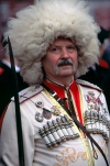 Russia - Novorossisk - Kuban - Krasnodar kray: cossack with sabre on parade (photo by Vladimir Sidoropolev)