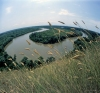 Russia - Kuban River: meander - fisheye view - river bend - Krasnodar kray (photo by Vladimir Sidoropolev)