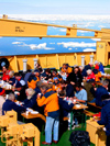 Russia - Bering Strait (Chukotka AOk): Kapitan Khlebnikov - BBQ on the foredeck - icebreaker - photo by R.Eime