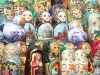 Russia - Moscow: Russian dolls - Matryoshki - Matryoshkas - nested dolls - Matroschka - Poupйes russes (photo by P.Artus)