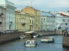 Russia - St. Petersburg: canal - boats (photo by P.Artus)