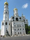 Russia - Moscow: Kremlin - church - Ivan the Great Bell Tower and giant bell (photo by Dalkhat M. Ediev)