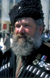 Russia - Novorossisk - Kuban - Krasnodar: cossack with black hat (photo by Vladimir Sidoropolev)
