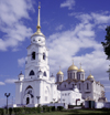Vladimir, Vladimir Oblast, Russia: Assumption / Dormition Cathedral - a mother church of medieval Russia, withstood the Mongol Hords - 'White Monuments of Vladimir and Suzdal' UNESCO World Heritage Site - Golden Ring - photo by A.Harries
