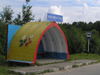Russia - Ferapontovo - Valogda oblast: bus stop art - photo by J.Kaman