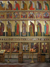 Russia - Solovetsky islands: parade of saints - icons in the iconostasis - Transfiguration Cathedral - photo by J.Kaman
