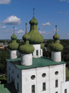 Russia -  Kargopol -  Arkhangelsk Oblast: Church of St. John the Precursor - 18th-century church - classical style in Russian stone architecture - from above - photo by J.Kaman