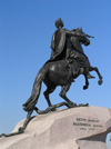 Russia - St Petersburg: the Bronze horseman - Tsar Peter the Great - photo by J.Kaman