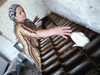 Chechnya, Russia - Chechen woman baking bread - photo by A.Bley