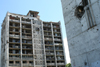Chechnya, Russia - Grozny - destroyed apartment buildings- photo by A.Bley