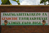 Northern Province, Rwanda: sign asking people to �Stop the Genocide as we are all Rwandans� - photo by C.Lovell