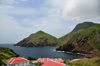 Hell's Gate, Saba: view over Cove Bay and Spring Bay - photo by M.Torres