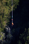 South Africa - Bloukrans Bungee hanging upside down, Plettenberg Bay - Garden route - photo by B.Cain