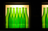 South Africa - Green bottles restaurant display, Cape Town - bottles on the wall (photo by B.Cain)