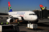 Johannesburg, Gauteng, South Africa: South African Airways Airbus A319-131, ZS-SFG, cn 2326, boarding cargo at OR Tambo International / Johannesburg International Airport / Jan Smuts / JNB - Kempton Park, Ekurhuleni - photo by M.Torres