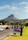 South Africa - Cape Town: Protesting (anti-abortion demonstration) - background: Devil's Peak - photo by M.Torres