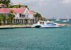 Gustavia, St. Barts / Saint-Barth�lemy: H�tel de la Collectivit� and ferry Edge II, the boat to Saint-Martin - La Pointe - photo by M.Torres
