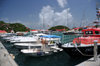 Gustavia, St. Barts / Saint-Barth�lemy: rescue boat and small yachts - harbour scene - photo by M.Torres
