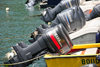 Gustavia, St. Barts / Saint-Barth�lemy: Yamaha outboard engines - harbour scene - photo by M.Torres