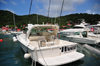 Gustavia, St. Barts / Saint-Barth�lemy: the Wahoo - boat for big game fishing - FWI, French West Indies -  photo by M.Torres